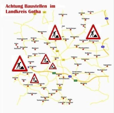 Landkreis Gotha Karte.Strassenbau Im Landkreis Profitiert Thuringen Fordert